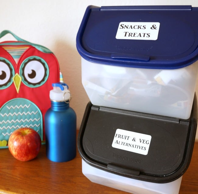 Back to school hack - pack your own lunch station