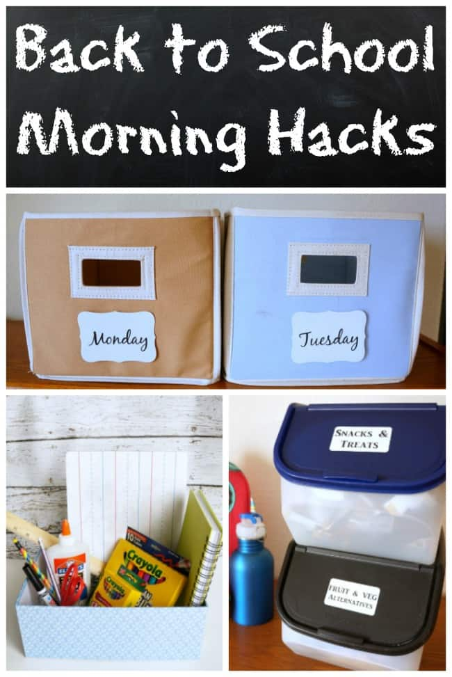 Back to school hacks to avoid morning stress