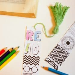 Back To School Coloring Bookmarks and Tassels