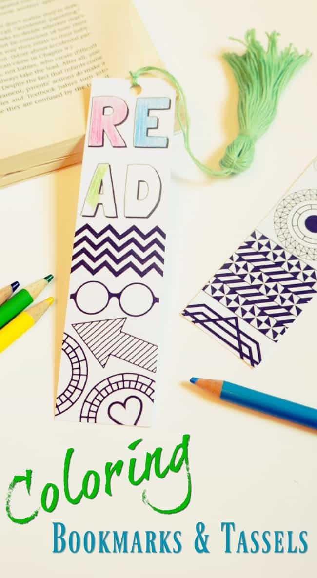 Print these back to school bookmarks and add fun tassels