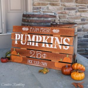 Painted Pumpkin Sign And A Big Announcement