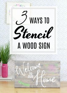 3 ways to stencil a wood sign. Full video with all the details. Plus how to build a wood sign