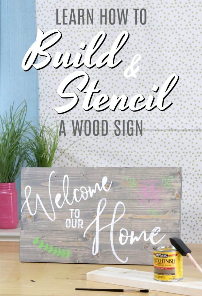 HOW TO build and stencil a wood sign. Full video tutorial.