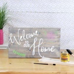 How to build a wood sign and how to stencil a wood sign