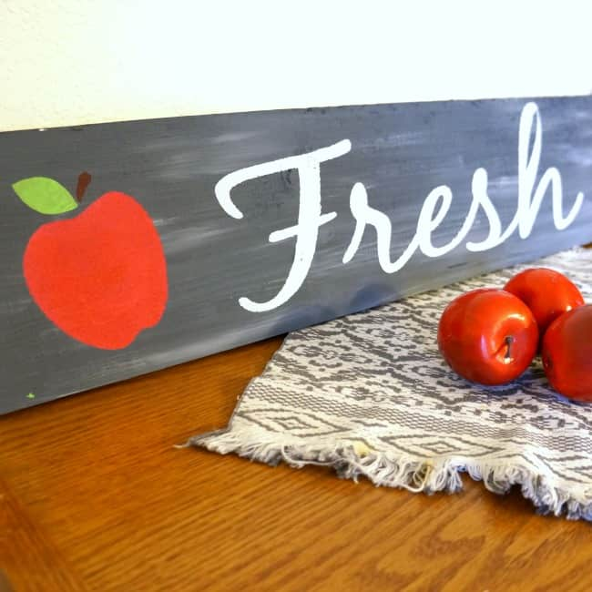 Fabulous Fall Wood Apple Sign