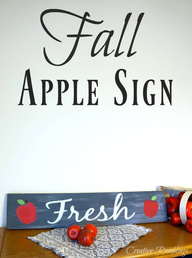 Pretty painted apple sign, perfect for fall.