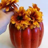 Fall Pumpkin Vase