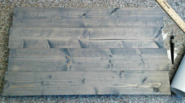 Gray stain on wood