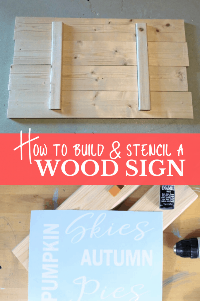 How To Build And Paint A Wood Sign Creative Ramblings