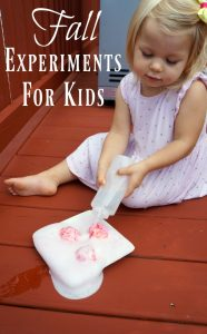 Fall experiments for kids