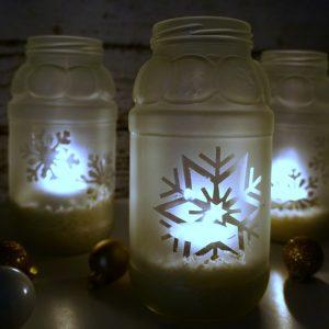 Snowflake jar luminaries
