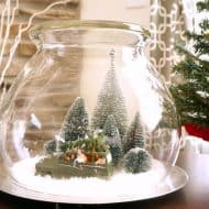 Easy Vintage Christmas Scene Under Glass