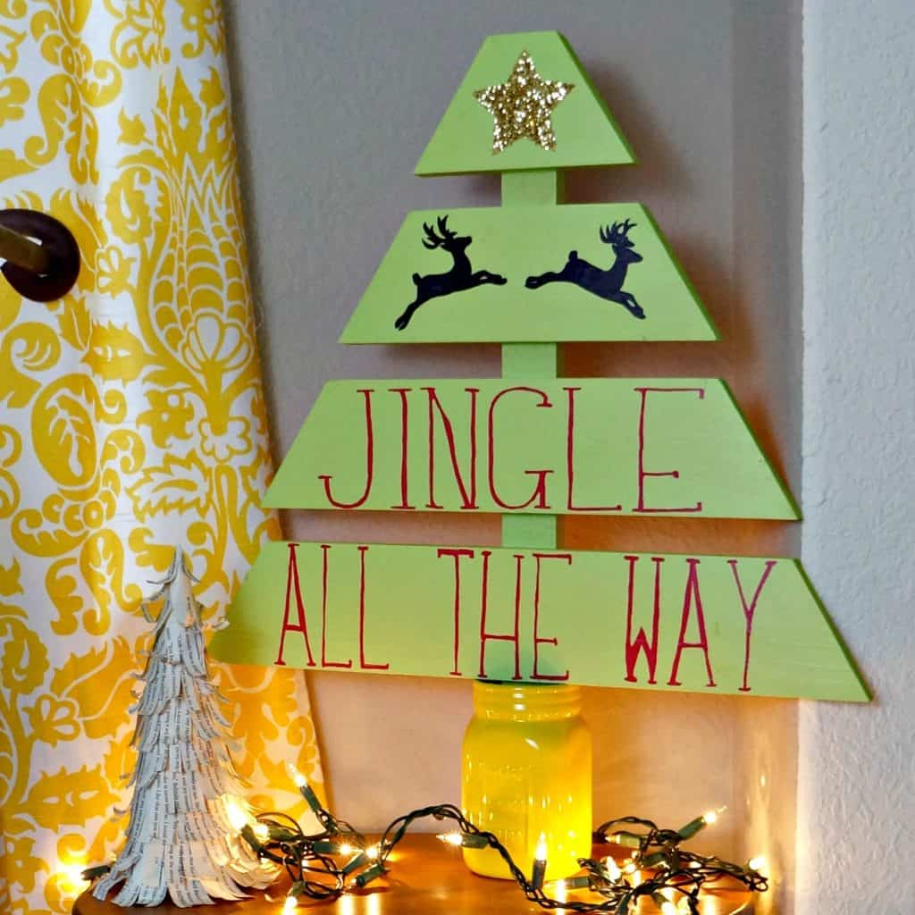 Learn how to build and decorate a wood Christmas tre
