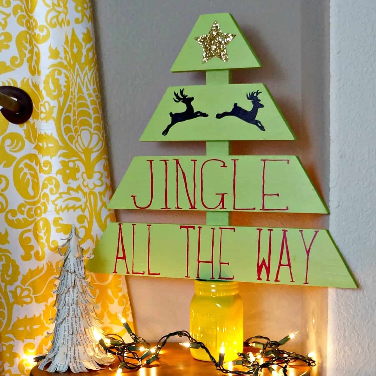 How to build and paint a wood christmas tree