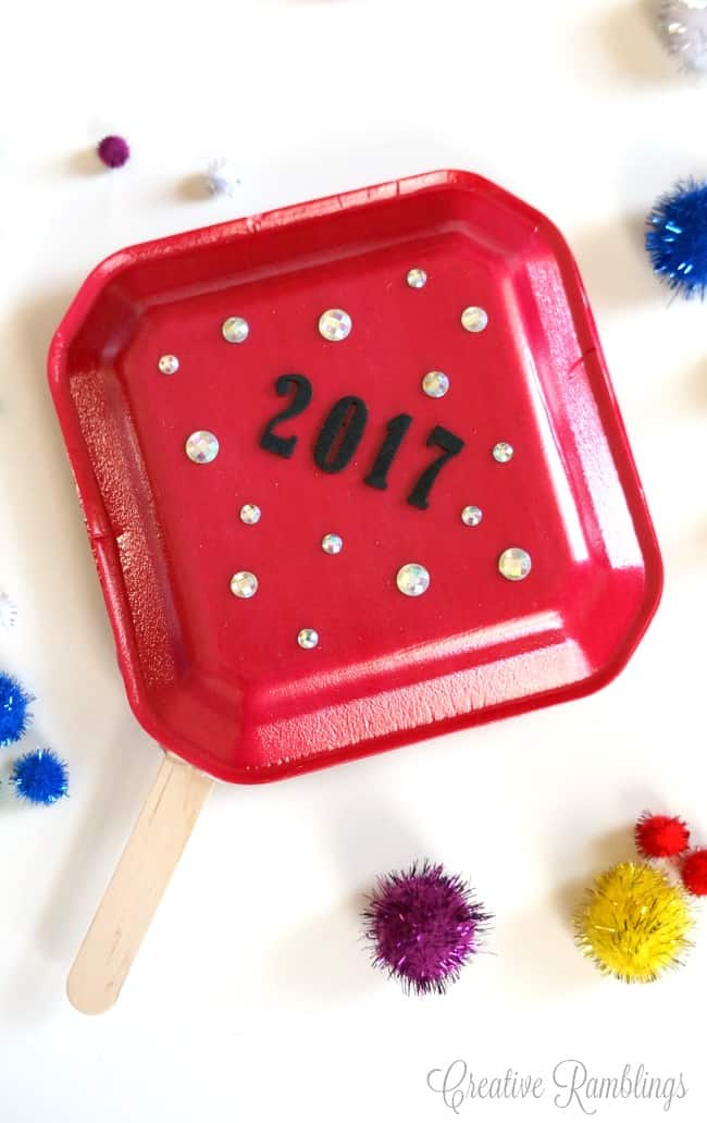 Make these simple kid's noise makers for a fun and festive New Year's Eve party