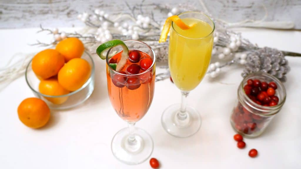 Champagne Cocktails for New Years Eve