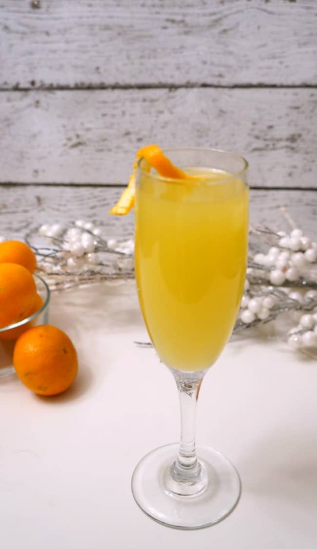 Champagne Cocktail for New Year's Eve. Mimosa