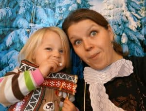 Toddler Christmas party photo booth