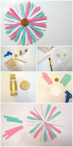 Craft Stick Sunburst Project step by step tutorial