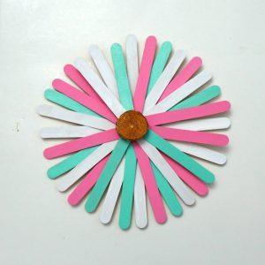 Craft Stick Sunburst Project