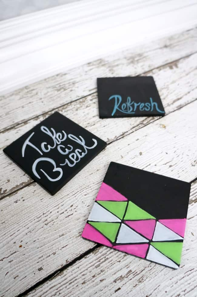 Easy Painted Ceramic Coasters #SnappleRollback #Walmart #ad