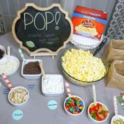 How to Create a Football Themed Popcorn Bar