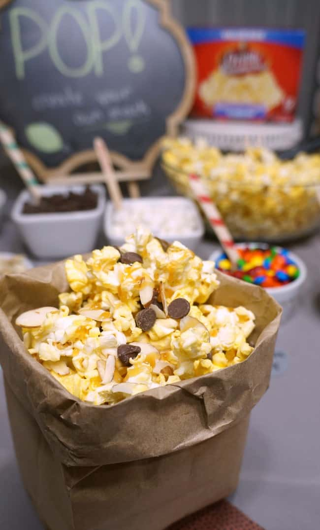 How to Create a Football Themed Popcorn Bar #AllStarSnackBar #ad