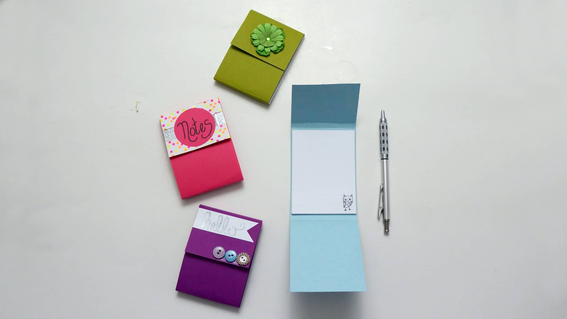 DIY notepad with scrap paper