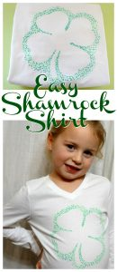 Easy St. Patrick's Day Shamrock Shirt with Fabric Markers