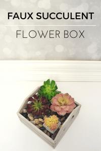Create a Faux Succulent Flower Box