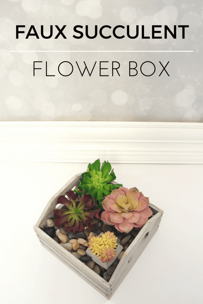 Create a Faux Succulent Flower Box