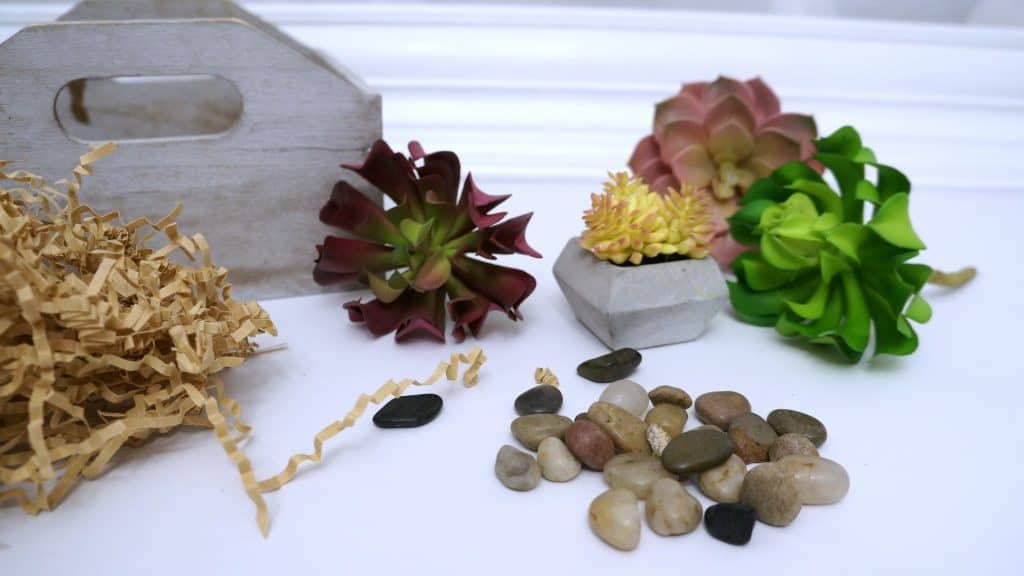 Faux Succulent Flower Box Supplies
