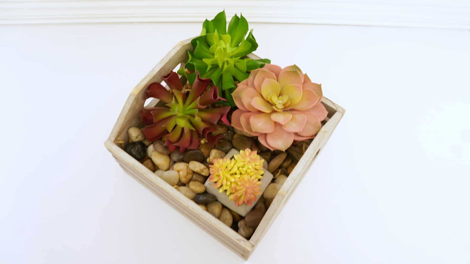 Faux Succulent Flower Box