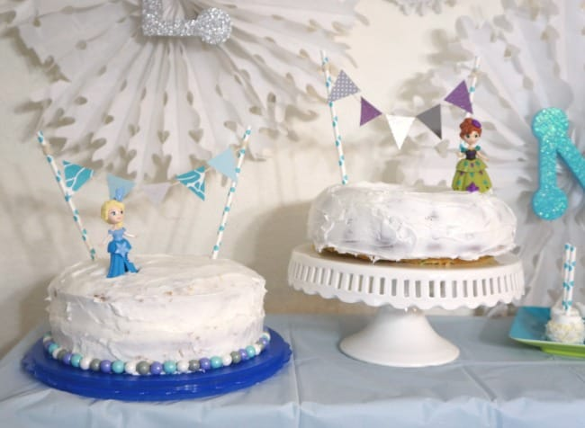 Frozen party Anna and Elsa cakes