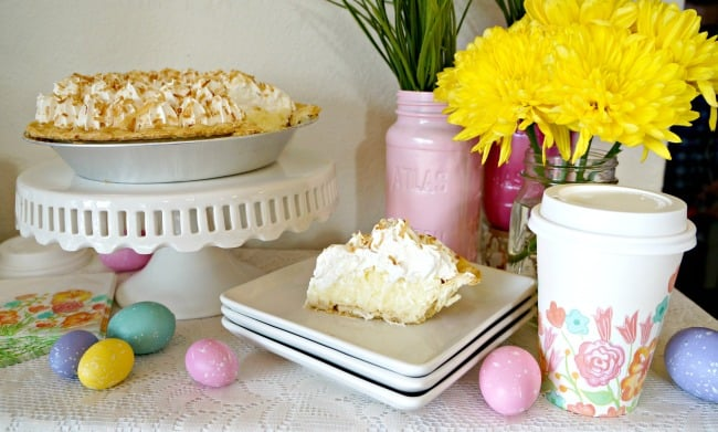 A Simple Easter Pie and Coffee Bar #SweetenYourSpring #ad