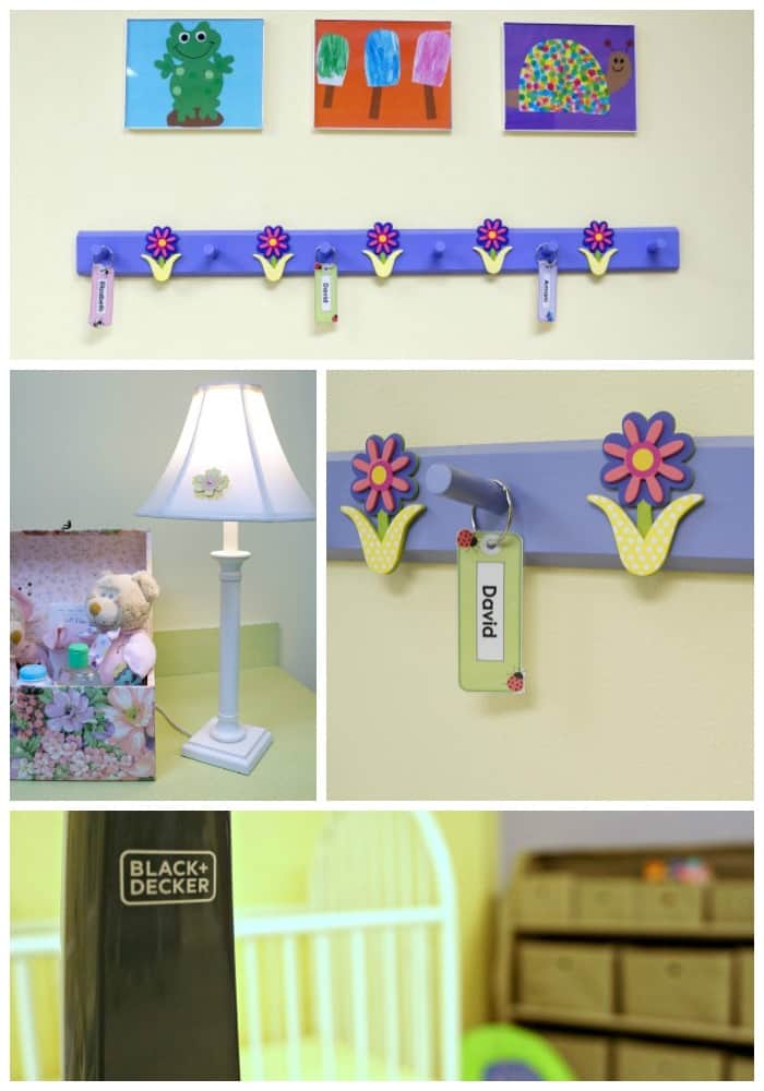 How to decorate a church nursery with simple inexpensive ideas. Plus tips for keeping the nursery clean. Simple DIY playroom decor.