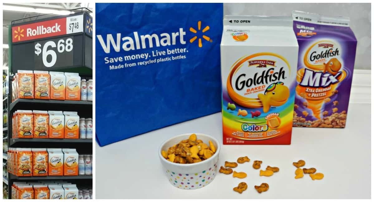 Goldfish crackers at Walmart #ad #Goldfishgametime