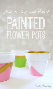 How to seal and protect painted flower pots