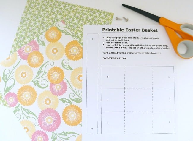 Printable Easter Basket template #SweeterEaster #ad