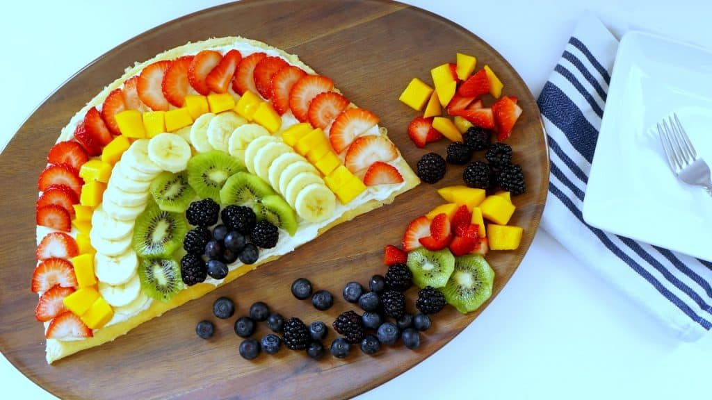 Rainbow fruit pizza recipe and video