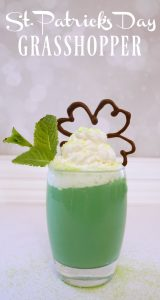 St. Patrick's Day grasshopper cocktail recipe with special touches