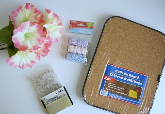 Dollar store string art supplies