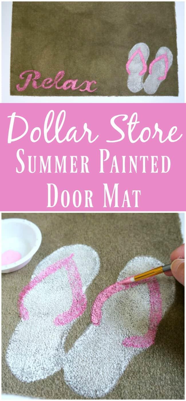 Dollar Store Summer Painted Door Mat