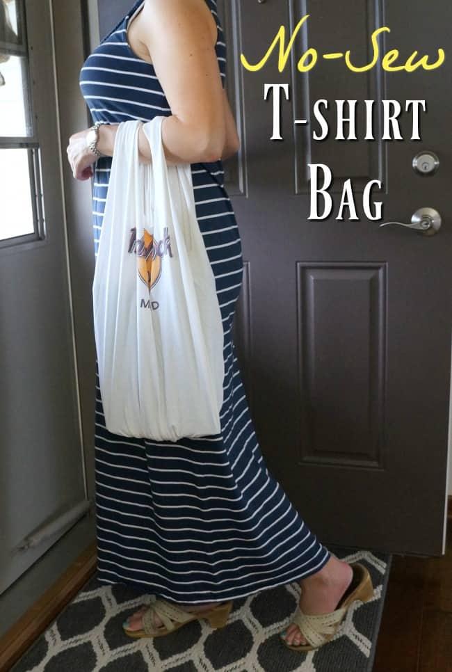So cute! No sew t-shirt bag, easy to follow tutorial.