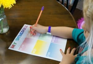 Back to School Printable Activity Schedule for Kids