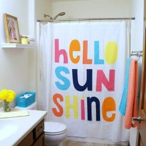 Colorful Bathroom Refresh