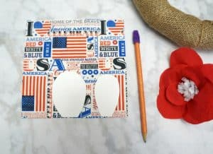 Dollar Store Patriotic Paper Flowers from napkins