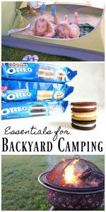Essentials for Backyard Camping with the whole family #EnterTheWonderVault AD