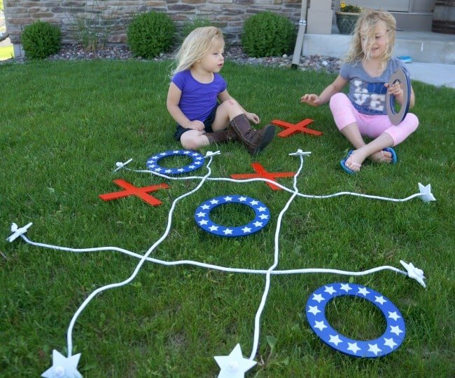 Father's Day Party giant tic tac toe outdoor game