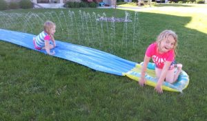 Father's Day Party water slide